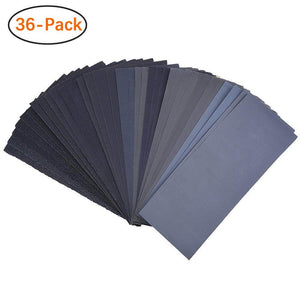 9x3.6 Inch 400 to 3000 Grit Wet Dry Sandpaper Assortment