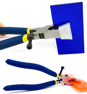 Flat Nose Pliers With Adjustable Screw and Rubber Cover