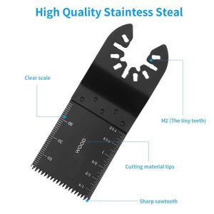 Jetcloudlive 108 Piece Oscillating Tool Blades Accessories Kit For Grinding Sanding and Cutting