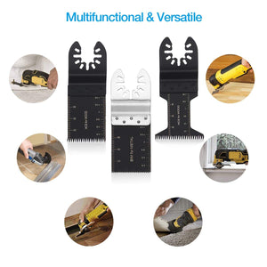 20 PCS Metal/Wood Oscillating Multitool Quick Release Saw Blades