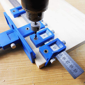 DIY Cabinet Drill Guide Hardware Jig Tool Aluminum Alloy