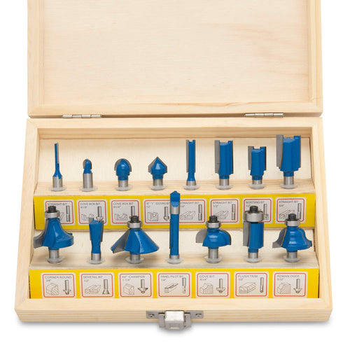Tungsten Carbide Router Bits | 15-Piece Set