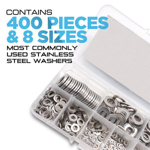 304 Stainless Steel Flat Washers Assortment