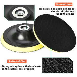 "Polishing Disc For Electric Grinder Polisher Tools - 3""/4""/5""/6""/7"""