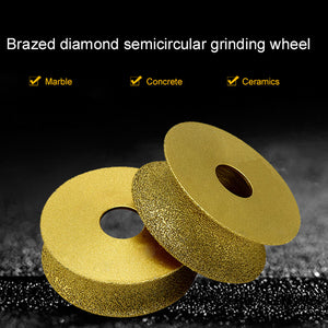 Brazing Diamond Angle Grinding Wheel for Glass Pottery Porcelain Marble Grinding