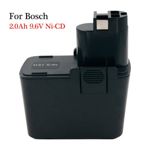 Rechargeable battery 9.6V 2.0Ah Nicd power tools replacement batteries BAT001  for Bosch cordless drills GSR 9.6 VE PSR PSB 9.6