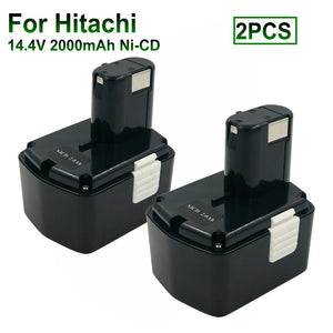2PCS DS14DVF3 14.4V 2.0A Ni-CD Cordless Power Tool Rechargeable Battery for Hitachi 14.4V Battery EB1412S EB1414S EB1414 EB1426H