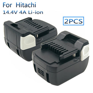 2PCS Power Tools Rechargeable Replacement Battery 14.4V 4.0A Li-ion for Hitachi Battery BSL1430 BSL1415 DS14DSL DS14DBL DV14DSL