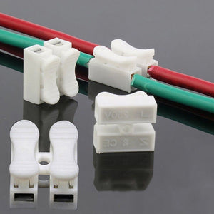 Wholesale 30pcs/lot Quick Splice Lock Wire Connectors CH2 2Pins Electrical Cable Terminals 20x17.5x13.5mm