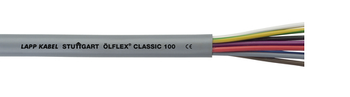 OLFLEX Classic 100 Cable 8 G 0.5 Core mm² W/ GN-YE Protective Conductor 300/500V