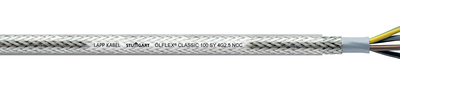 OLFLEX Classic 100 SY Cable 3 G 0.75 Core mm² W/ GN-YE Protective Conductor Steel braid