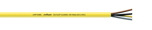 OLFLEX Classic 100 Cable 4 G 2.5 Core mm² W/ GN-YE Protective Conductor PVC Yellow