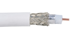 LOW VOLTAGE TYPE RG SINGLE CONDUCTOR CMP BRAID SHIELD FPE INSULATION COAXIAL CABLE