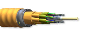 Corning Multi Fiber OM4 Riser 50µm Extended 10G MIC Unitized Tight Buffered Interlocking Armored Cable
