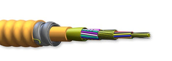 Corning Multi Fiber OM4 Riser 50µm Extended 10G MIC Tight Buffered Interlocking Armored Cable