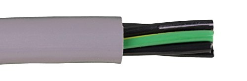 Alpha Wire 80010 24 AWG 5 Conductor Unshielded 600V MPPE Insulation Zero Halogen PUR Continuous EcoFlex Cable