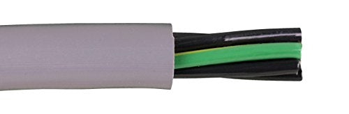 Alpha Wire 80004 26 AWG 3 Conductor Unshielded 600V MPPE Insulation Zero Halogen PUR Continuous EcoFlex Cable