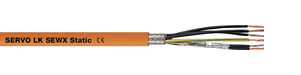 Servo Cable Core mm² W/ GN-YE protective Conductor Motor Sew Standard PVC