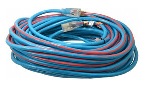 12 AWG 3C SJTW BLUE/RED 125V EXTREME WEATHER EXTENSION CORD CABLE