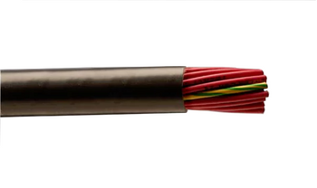 Alpha Wire 87005 24 AWG 5 Conductor 600V Unshielded Hytrel Insulation Torsional Flex Control Xtra Guard Performance Cable