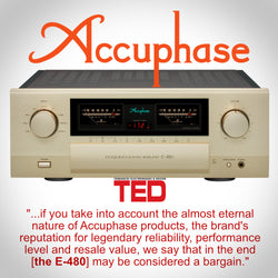 Accuphase E-480 gets rave review from TED Magazine!