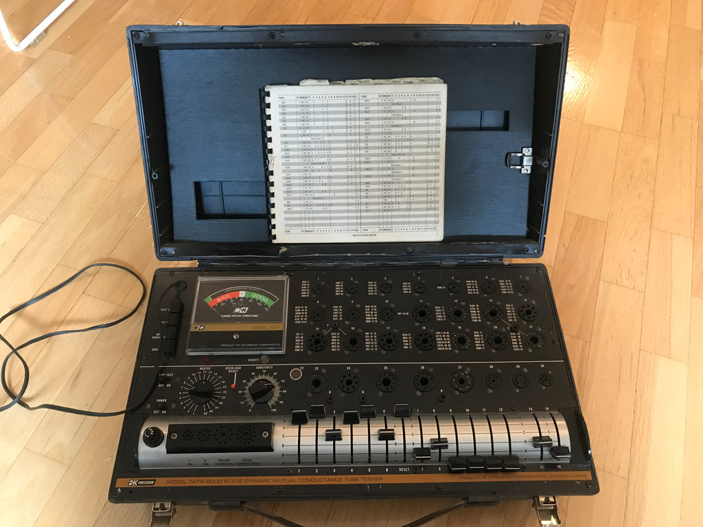 B&K 747 Tube Tester Solid State EX Condition