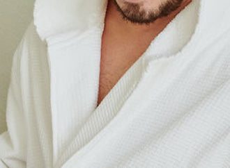 Hooded Terry Robes - Shawl Collar