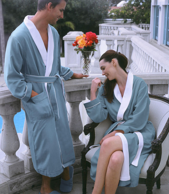 Spa Robes for couples_color-Aqua