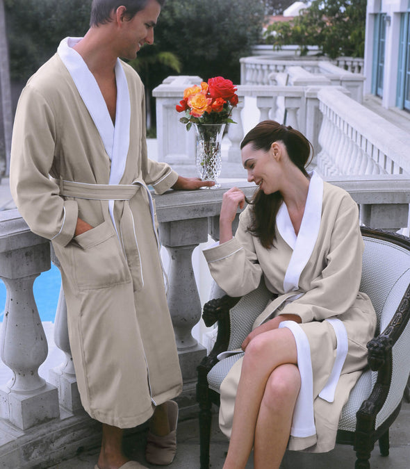 Spa Robes for couples_color-Seashell