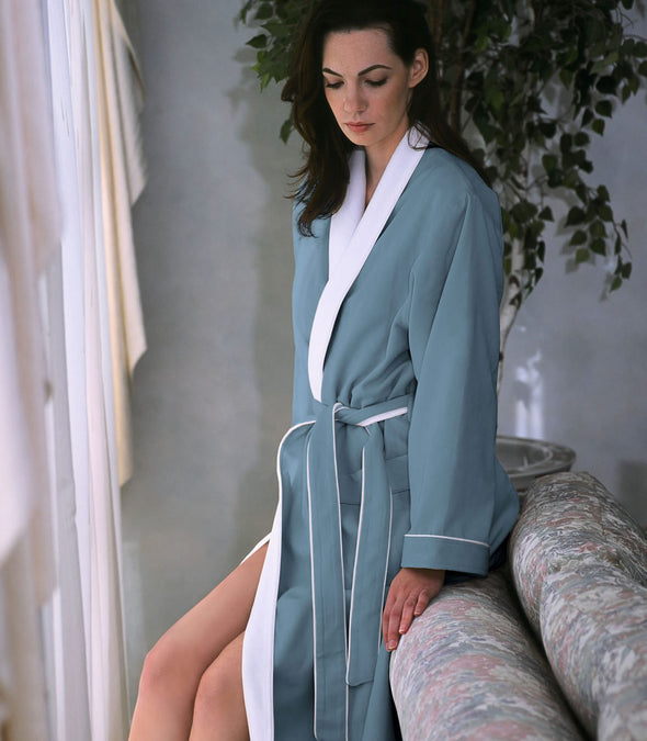 Spa Robe for women_color-Aqua