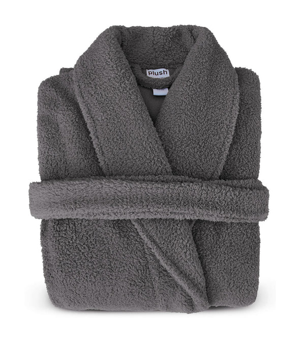 Plush Robe in Grey_color-Charcoal