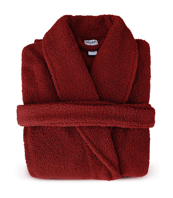 Plush Robe in Red_color-Cranberry