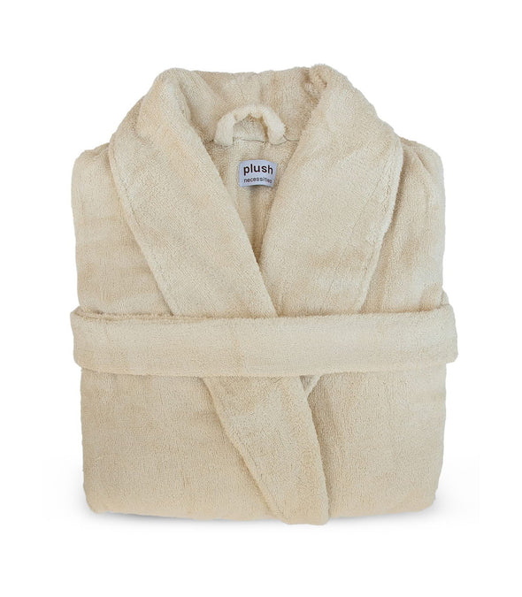 Pure Bliss Terry Robe in Oatmeal_color-Oatmeal
