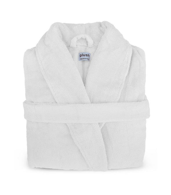 Pure Bliss Terry Robe in White_color-White_collection-Plus Size Robes