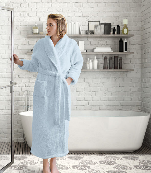 Plush Robe for women_color-Pale Blue