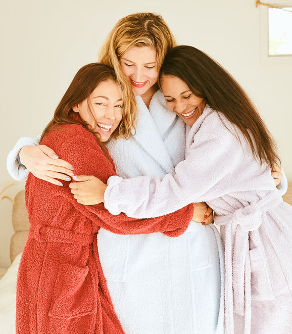 Plush Robes for women_color-Cranberry_collection-Plus Size Robes