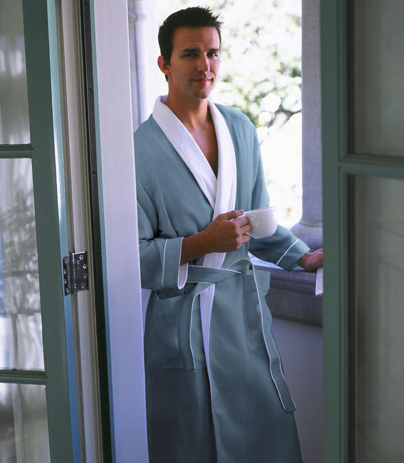 Spa Robe for men_color-Aqua