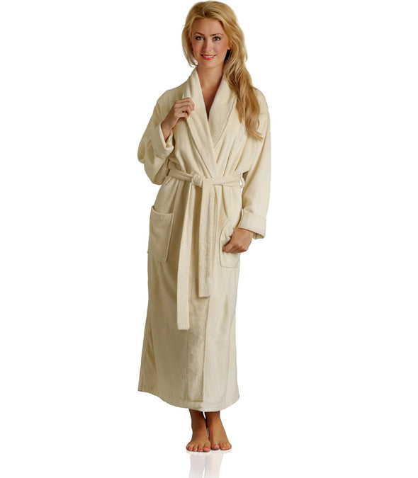 Pure Bliss Terry Robe in Oatmeal for women_color-Oatmeal_collection-Best Women's Robes