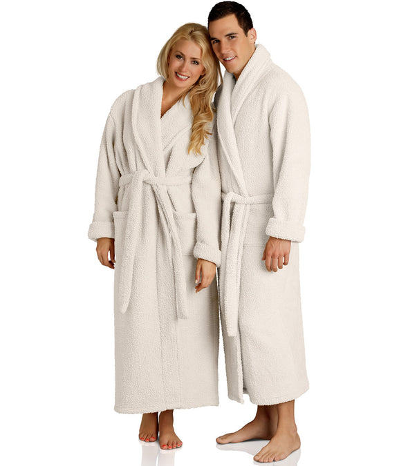 Plush Robes for couples_color-Almond
