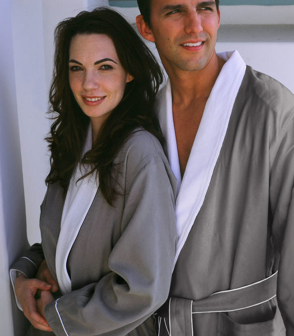 Spa Robes in Grey for couples_color-Sandstone