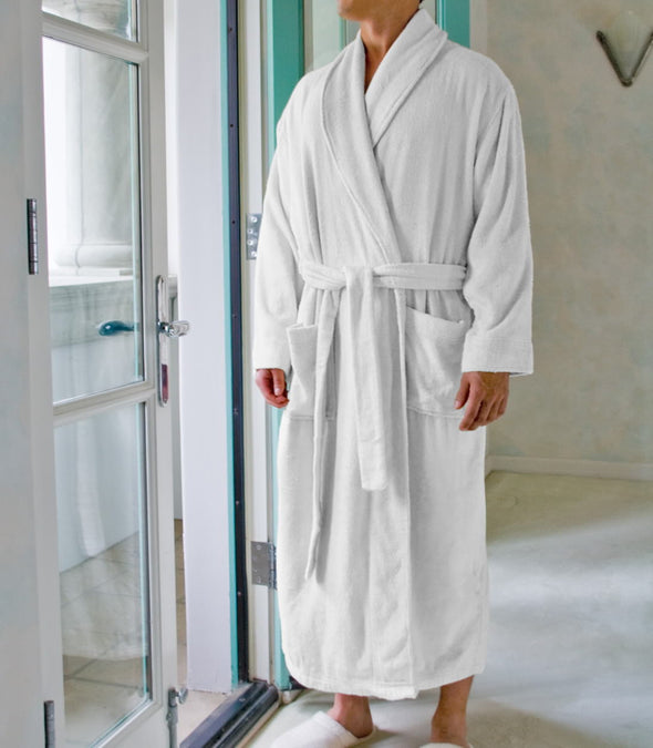 Pure Bliss Terry Robe in White for men_color-White