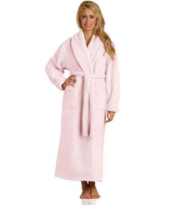 Plush Robe in Pink for women_color-Blush