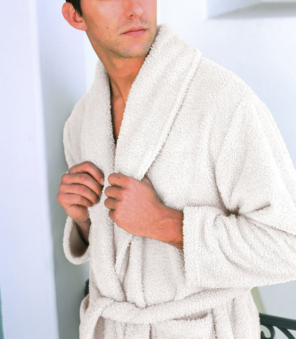 Plush Robe for men_color-Almond