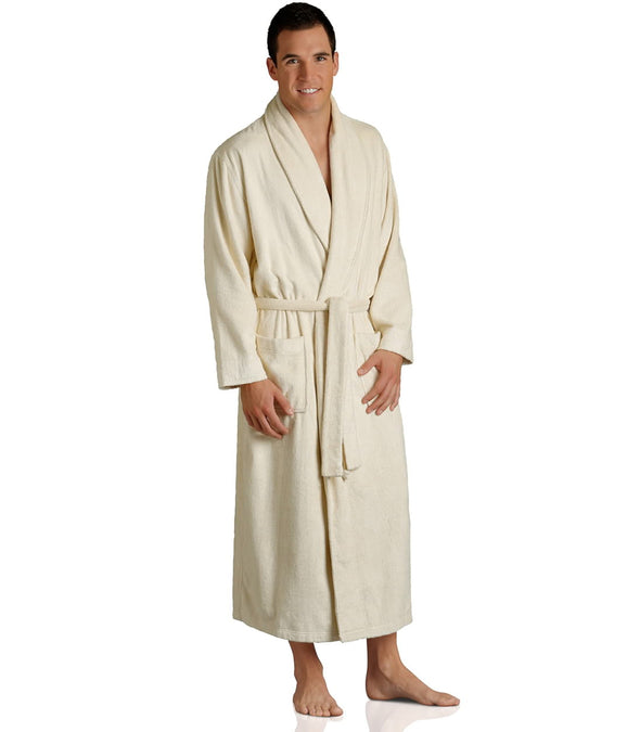 Pure Bliss Terry Robe in Oatmeal for men_color-Oatmeal