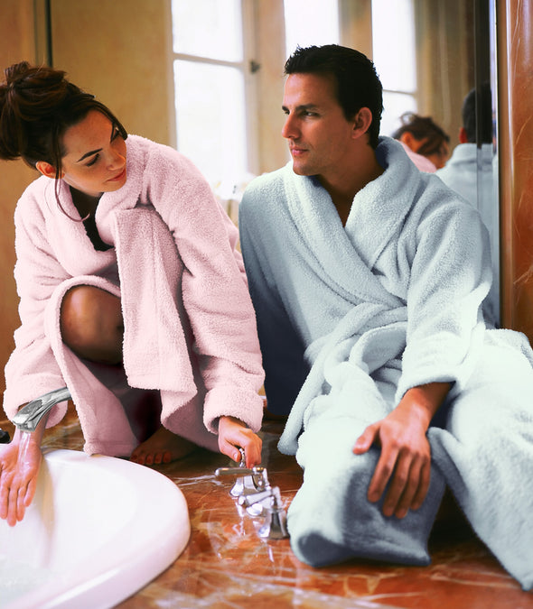 Plush Robes for couples_color-Blush