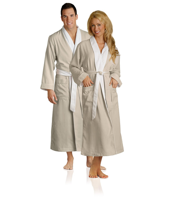 Spa Robes in Beige for couples_color-Seashell