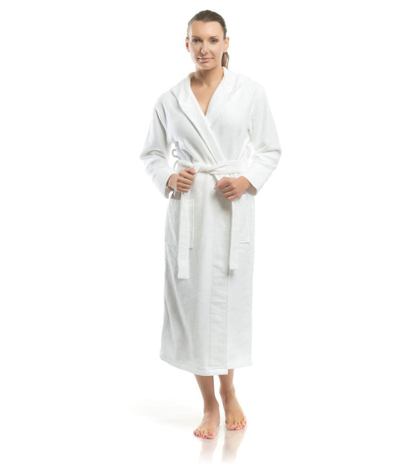 Plush Dream Hooded Robe for women_color-White_collection-Petite Womens Robes
