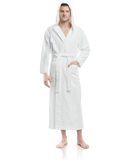 Plush Dream Hooded Robe for men_color-White_collection-Heavy Weight Robes