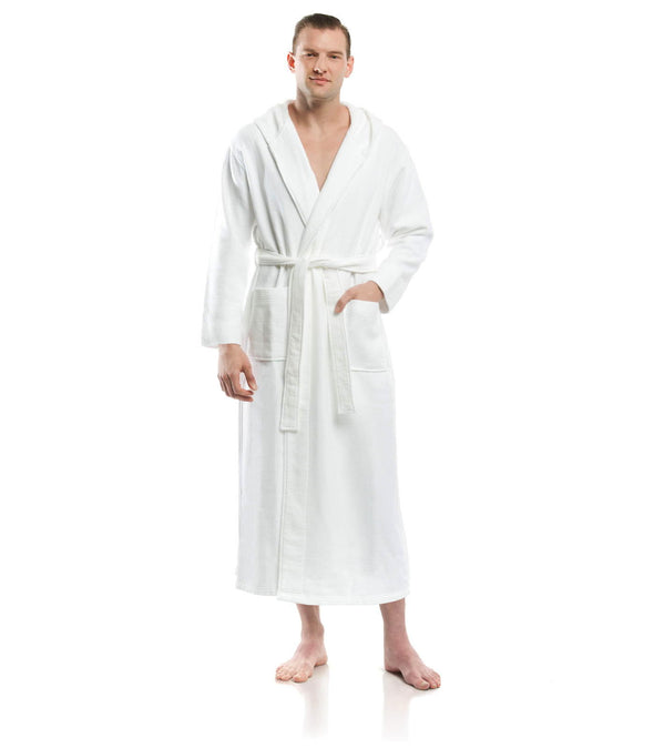 Plush Dream Hooded Robe for men_color-White