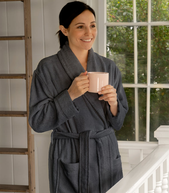 Pure Bliss Organic Cotton Terry Bathrobe_color-Slate